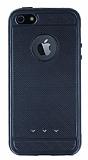 iPhone SE / 5 / 5S Metalik Noktal� Siyah Silikon K�l�f