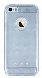 iPhone SE / 5 / 5S Metalik Noktal� Silver Silikon K�l�f