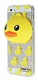 iPhone SE / 5 / 5S �rdek Silikon Kenarl� Kristal K�l�f
