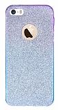 iPhone 5 / 5S Simli Mor Silikon K�l�f