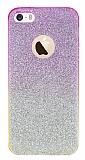 iPhone 5 / 5S Simli Pembe Silikon K�l�f