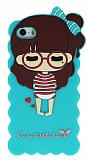 Candy House iPhone 5 /5S Sleepy Girl Ye�il Silikon K�l�f