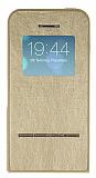 iPhone 5 / 5S Standl� Manyetik Kapakl� Full Koruma Gold K�l�f