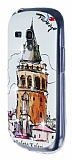 Samsung i8190 Galaxy S3 mini Ta�l� Galata Kulesi Silikon K�l�f