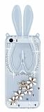 iPhone 5 / 5S Ta�l� Tav�an Standl� �effaf Silikon K�l�f