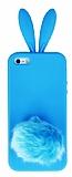 iPhone 5 / 5S Tav�an Mavi Silikon K�l�f