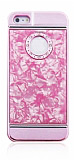 iPhone 5 / 5S Granite Pembe Rubber K�l�f