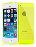 iPhone 5/5S Ultra Koruma �effaf Sar� Silikon K�l�f
