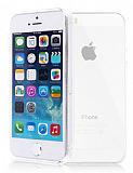 iPhone 5/5S Ultra Koruma �effaf Beyaz Silikon K�l�f