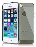 iPhone 5/5S Ultra Koruma �effaf Siyah Silikon K�l�f
