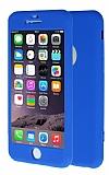 iPhone 6 / 6S 360 Derece Koruma Likit Mavi Silikon Kılıf