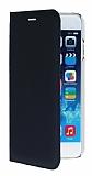 iPhone 6 / 6S Cüzdanlı Yan Kapaklı Siyah Deri Kılıf