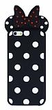 iPhone 6 / 6S Fiyonklu Siyah Silikon Kılıf