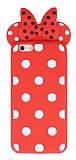iPhone 6 / 6S Fiyonklu Kırmızı Silikon Kılıf