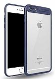 Eiroo Cam Hybrid iPhone 6 / 6S Kamera Korumalı Lacivert Kenarlı Rubber Kılıf