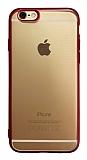 iPhone 6 / 6S Kırmızı Kenarlı Mat Silikon Kılıf