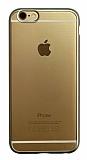 iPhone 6 / 6S Silver Kenarlı Mat Silikon Kılıf