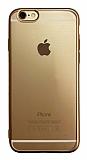 iPhone 6 / 6S Gold Kenarlı Mat Silikon Kılıf