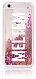 iPhone 6 / 6S Kişiye Özel Simli Sulu Rose Gold Rubber Kılıf