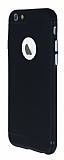 iPhone 6 / 6S Metal Tuşlu Mat Siyah Silikon Kılıf