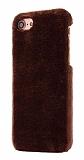 iPhone 6 / 6S Peluş Kahverengi Rubber Kılıf