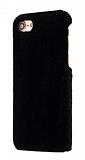 iPhone 6 / 6S Peluş Siyah Rubber Kılıf