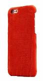 iPhone 6 / 6S Peluş Kırmızı Rubber Kılıf