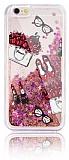 iPhone 6 / 6S Simli Sulu Fashion Rose Gold Silikon Kılıf
