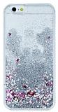 iPhone 6 / 6S Sulu Silver Rubber Kılıf
