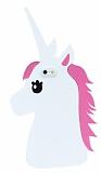 iPhone 6 / 6S Unicorn Beyaz Silikon Kılıf