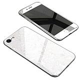 iPhone 6 Plus / 6S Plus 360 Derece Koruma Desenli Manyetik Cam Beyaz Kılıf