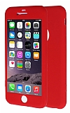 iPhone 6 Plus / 6S Plus 360 Derece Koruma Likit Kırmızı Silikon Kılıf