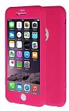 iPhone 6 Plus / 6S Plus 360 Derece Koruma Likit Pembe Silikon Kılıf
