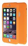 iPhone 6 Plus / 6S Plus 360 Derece Koruma Likit Turuncu Silikon Kılıf