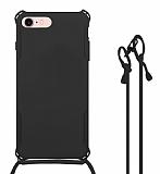 iPhone 6 Plus / 6S Plus Askılı Siyah Silikon Kılıf