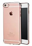 iPhone 6 Plus / 6S Plus Rose Gold Çerçeveli Şeffaf Silikon Kılıf