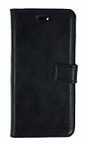 iPhone 6 Plus / 6S Plus Cüzdanlı Yan Kapaklı Siyah Deri Kılıf
