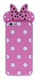 iPhone 6 Plus / 6S Plus Fiyonklu Pembe Silikon Kılıf