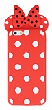 iPhone 6 Plus / 6S Plus Fiyonklu Kırmızı Silikon Kılıf