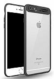 Eiroo Cam Hybrid iPhone 6 Plus / 6S Plus Kamera Korumalı Siyah Kenarlı Rubber Kılıf