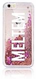 iPhone 6 Plus / 6S Plus Kişiye Özel Simli Sulu Rose Gold Rubber Kılıf