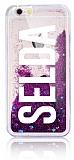 iPhone 6 Plus / 6S Plus Kişiye Özel Simli Sulu Silver Rubber Kılıf