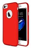 iPhone 6 Plus / 6S Plus Metal Kamera Korumalı Kırmızı Silikon Kılıf