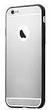 iPhone 6 Plus / 6S Plus Siyah Silikon Kenarlı Şeffaf Rubber Kılıf