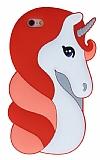 iPhone 6 Plus / 6S Plus Unicorn Kırmızı Silikon Kılıf