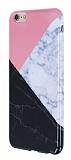 iPhone 6 Plus / 6S Plus Granit Görünümlü Pembe Silikon Kılıf