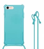 iPhone 7 / 8 Askılı Mavi Silikon Kılıf
