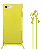 iPhone 7 / 8 Askılı Sarı Silikon Kılıf