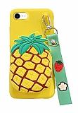 iPhone 7 / 8 Cüzdanlı Boyun Askılı Ananas Kılıf