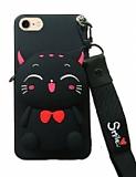 iPhone 7 / 8 Cüzdanlı Boyun Askılı Kedi Kılıf